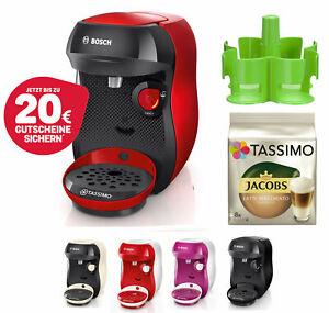 Bosch TASSIMO Happy + 20 EUR Gutscheine* + TDisc + Spender Heißgetränkemaschine