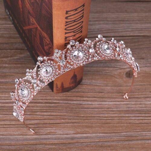 Crystal Tiara Headband Crown Bridal Wedding Bride Princess Rhinestone Hair Pearl