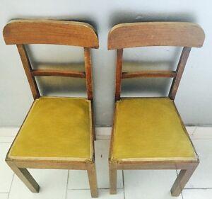Sedie In Legno Anni 50.Dettagli Su 2 Sedia Sedie Chair Legno Anni 50 Epoca Massello Velluto Vintage Modernariato