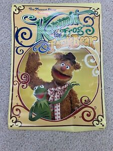 Vintage-The-Muppet-Show-Kermit-the-Frog-amp-Fozzie-Bear-Poster-1977-Scandecor