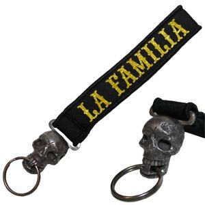 Luxus-accessoires Schädel Neopren Schlüsselanhänger Totenkopf La Familia 187 Gold White Blood Loca Um Das KöRpergewicht Zu Reduzieren Und Das Leben Zu VerläNgern