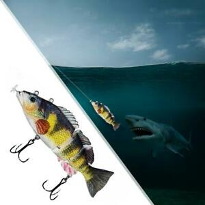 Electric Live Bait LED Swimming Robotic segment Fishing Lures Animated H3D7