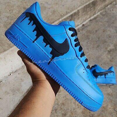 Air Force 1 Low Blue Black DRIP Custom NWT | eBay
