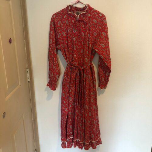 Vintage Origin Victorian floral midi boho dress 16