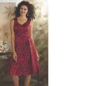 de49bb7b926 Midnight Velvet Red Formal Jacquard Party Dress Dinner Cruise Church ...