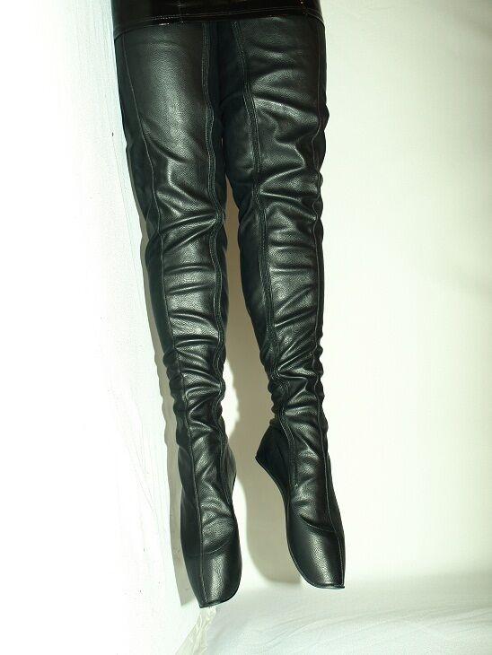 High heels, stiefel kunstleder  ballet  size 40-47  heel 0cm POLAND fs1107