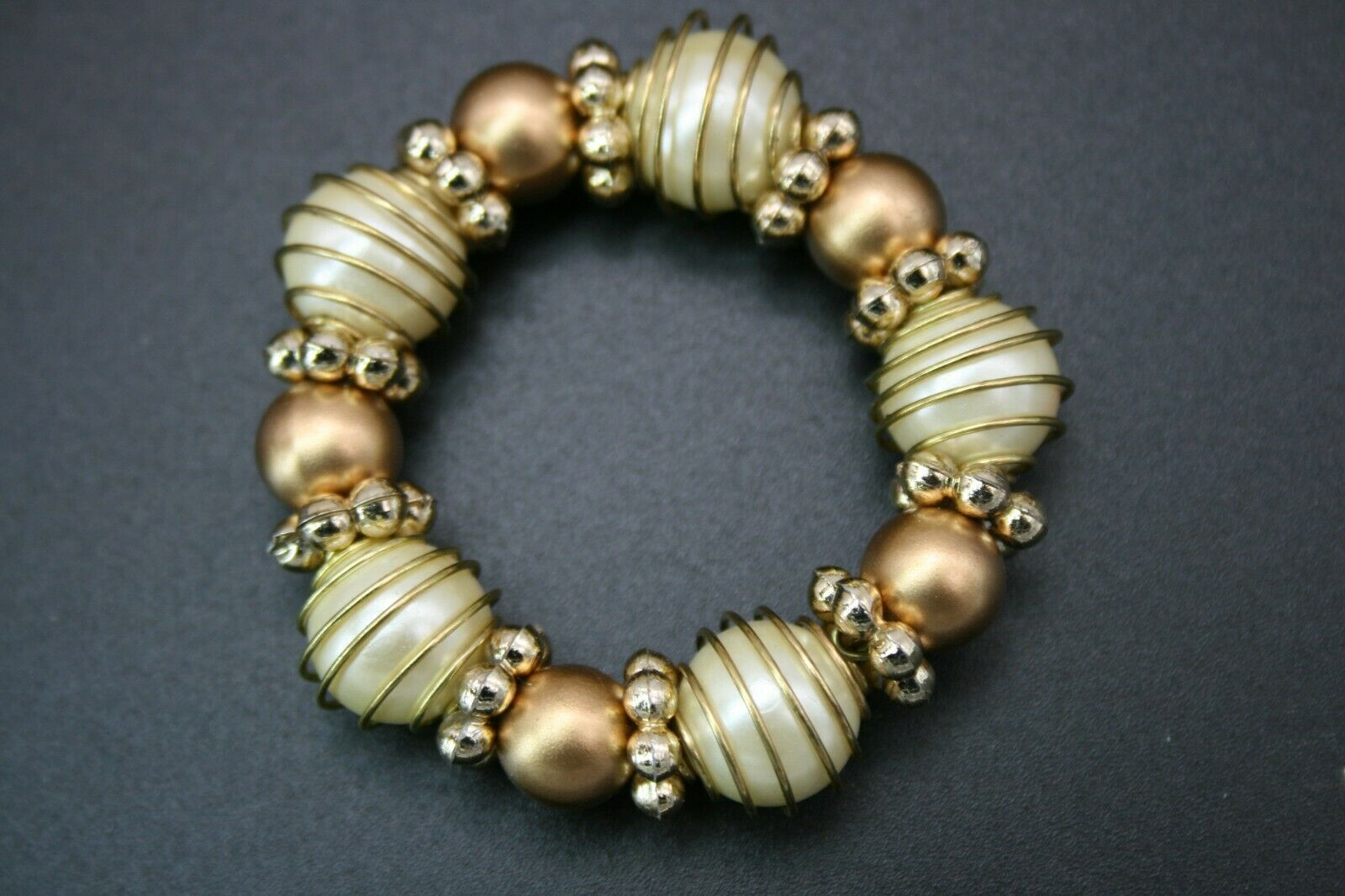 Set Of 11 Gold Silver Pearl Beaded Napkin Rings Great For Holidays Any Event For Sale Online