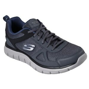 ff98bfd44681 Men s Skechers TRACK 52631GYNV Grey Navy Lace-Up Athletic Training ...