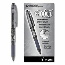 31573 Pilot Frixion Point Erasable Gel Pen 05mm Needle Black Ink Pack Of 12