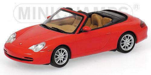 Porsche 911 CABRIOLET 2001 rouge 1 43 MODEL 400061034 MINICHAMPS