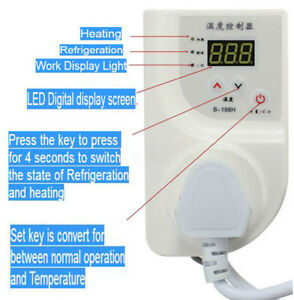 Sensor Wired Relays Digital Temperature Controller Thermostat Heat Outlet Switch