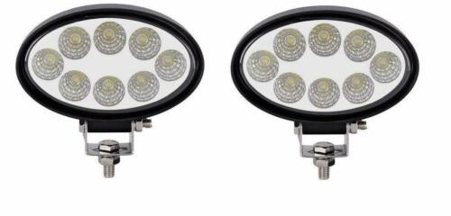 2x 24W LED Arbeitsleuchten Oval Weiß Nahfeldausleuchtung Traktor Anhänger Bager