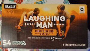 Laughing Man Coffee Co Hugh's Blend K-Cups 54 Count Medium Roast Oct/2022