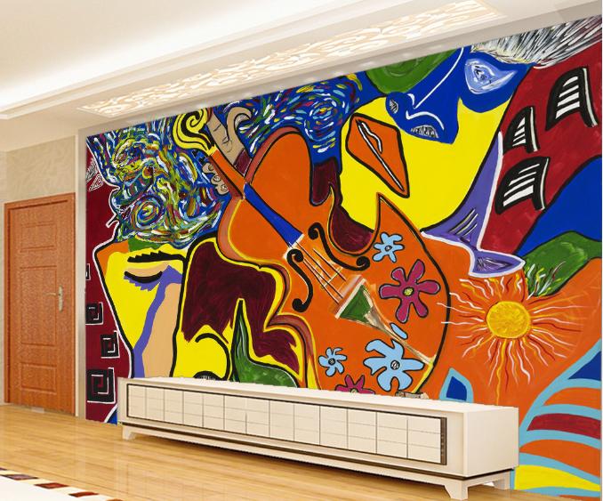 3D Abstract Graffiti 7 Wall Paper Murals Wall Print Wall Wallpaper Mural AU Kyra