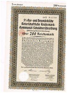 Kur- und Neumärkische...Darlehens-Kasse, Berlin 1930, 200 RM, ungelocht, VF+
