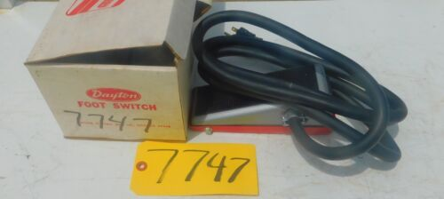 Dayton Foot Switch Pedal # 2X589A Industrial Tool 20 A 115 V.Free Ship