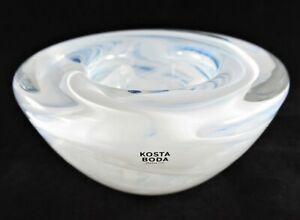 NWT-Kosta-Boda-Sweden-Hand-Blown-Art-Glass-Votive-Holder-Atoll-by-Anna-Ehrner