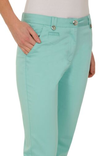Ex M/&S Ladies Per Una Rise Straight Leg Stretch Cotton Chinos Marks /& Spencer UK