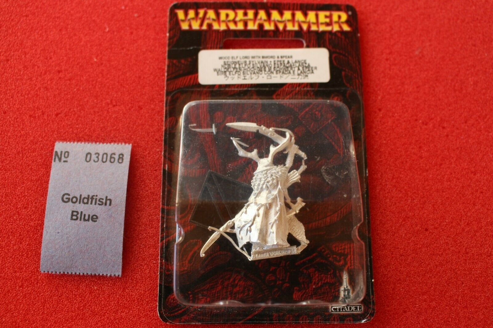 Games Workshop Wood Elves Female Lord Spear and Shield Metal BNIB New Sealed GW