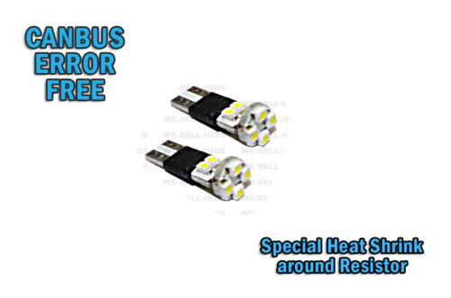 8 SMD HEAT SHRINK ERROR FREE CANBUS W5W T10 501 LED SIDE LIGHT BULB plate