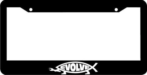 EVOLVE jesus fish License Plate Frame