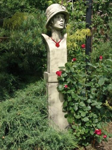 SKULPTUR Figur Büste SISALA ART DECO 20er Jahre Antik Steinguß Gartendekoration