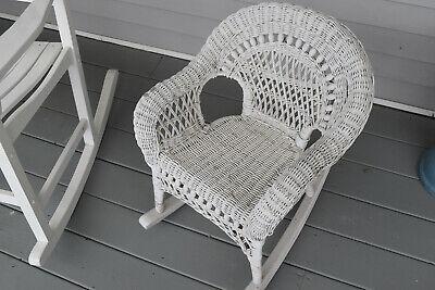 Vintage Wicker Child Rocking Chair