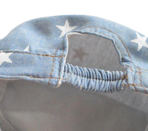 NEW Baby Kids Boys Denim Star Cotton Cap Hat  *Size Newborn to 4 years* 0-4