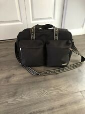 073026c025 Burberry Fragrance Brown Shoulder Strap Carry-on Gym Travel Duffle Tote Bag  🌰🌰