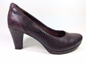 le 4 Clarks Imprimé Talon titre UK EU afficher d'origine Cuir sur Détails 37 Moyen Chaussures Artisan Violet Serpent htsCBQrxd