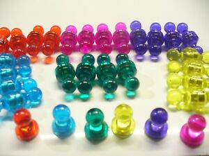 4 x LARGE Metal PUSH PINS NEODYMIUM MAGNETS ~ Noticeboard Fridge Board Skittles