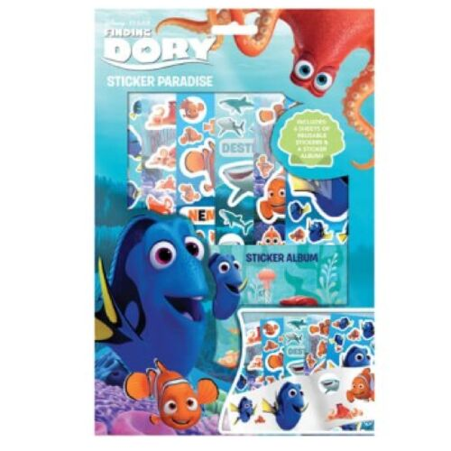 Disney Finding Dory Sticker Paradise Activity Pack Picture Sheets Album Nemo