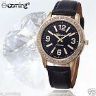 Geneva LUXURY Womens Watch Roman UNISEX Leather Analog Quartz DRESS Wrist Watch
