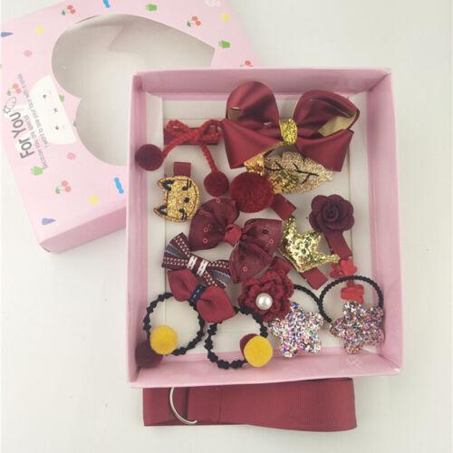 18Pcs//set Hairpin Girl Baby Hair Clip Bow Mini Flower Barrettes Star Kids Infant