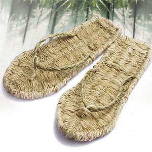 Summer-Natural-Hemp-Straw-Hand-woven-Sandals-Flip-Flop-Casual-Slippers-Shoes