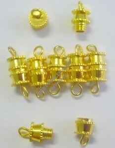 20-DIY-METALLVERSCHLUSS-VERSCHLUSSE-SCHRAUBVERSCHLUSS-VERBINDER-14mm-GOLD-M29