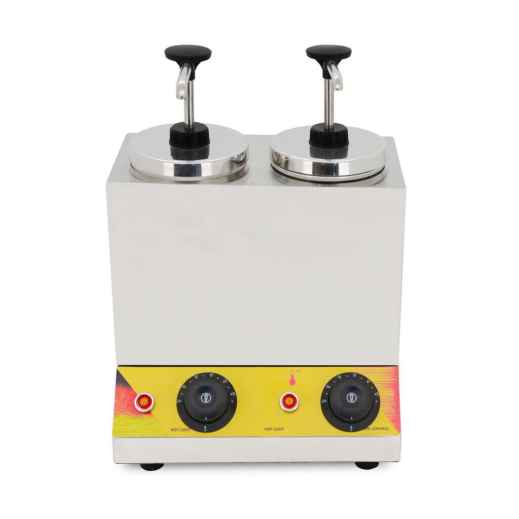 VFN commercial double seau chauffage électrique en acier inoxydable sauce Distributeur 110 V