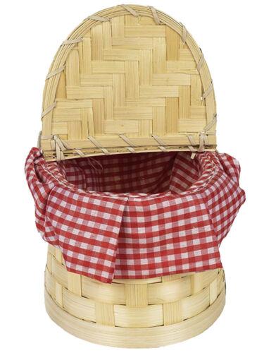 Red Riding Hood Gingham Cesto Costume Fairytale LIBRO giorno settimana Uovo di Pasqua