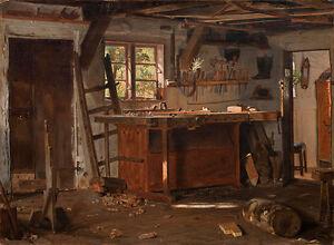 A carpenters workshop Christen Dalsgaard Schreiner Werkstatt Holz B A3 01146
