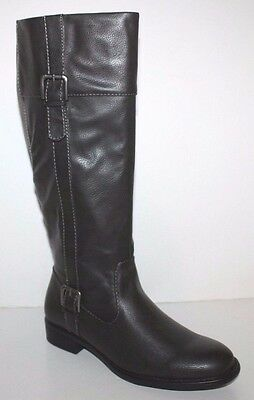 GH Bass NIB Women 6 6.5 7 7.5 M Josie Dark Gray Faux Leather Riding Boots