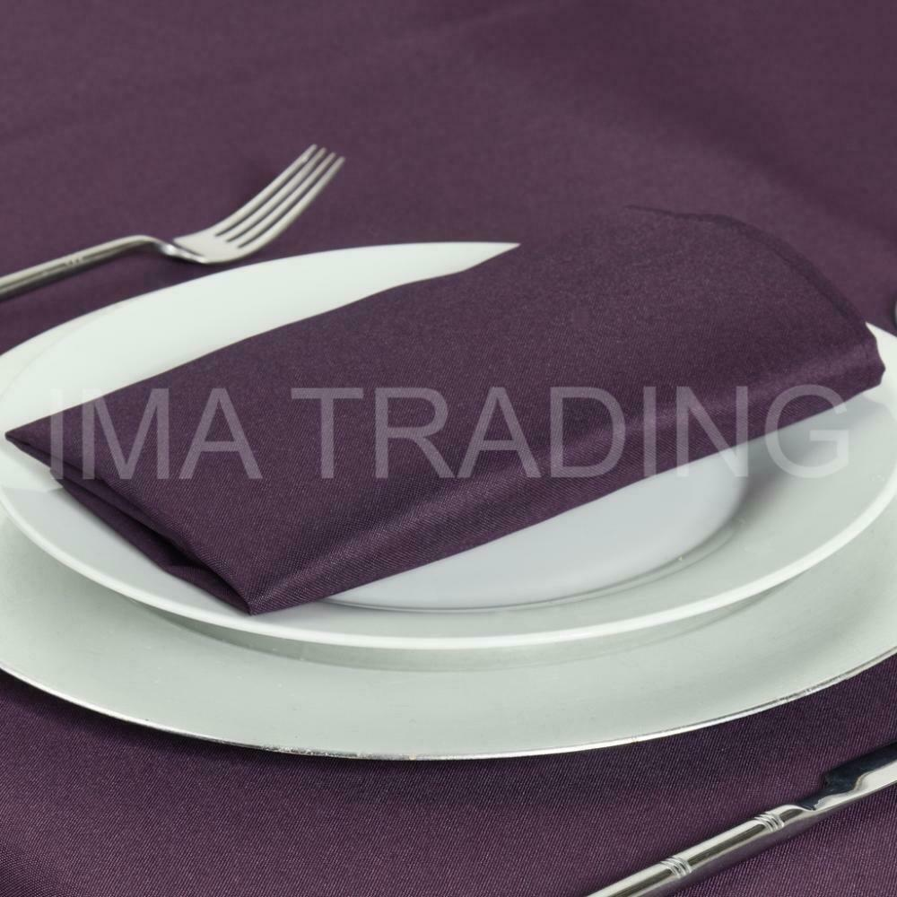 EGGPLANT ROUND TABLECLOTH 178cm, 70  Inch, 220GSM POLYESTER TABLE CLOTH