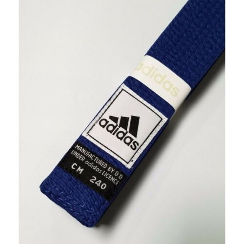 New adidas Taekwondo Karate Belt Martial Arts Judo JiuJitsu Belt CottonBLUE