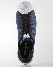 120 adidas superstar rimbalzare primeknit nero (uomini blu bianco