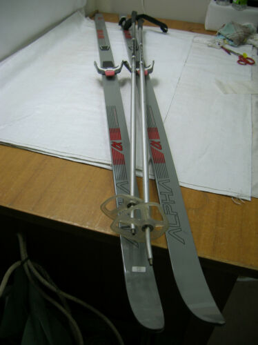 Vintage Fibre Glass Skis with Poles Japanese ALPHA 3000 TR SKILOM #66