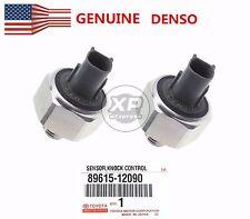 2Pcs Genuine Denso Knock Sensor Part 89615-12090 for Toyota Lexus