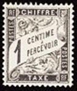 FRANCE-STAMP-TIMBRE-TAXE-YVERT-10-034-TYPE-DUVAL-1c-NOIR-034-NEUF-xx-TTB