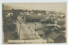 RPPC Reading Railroad Station SUNBURY PA Northumberland Co Real Photo Postcard