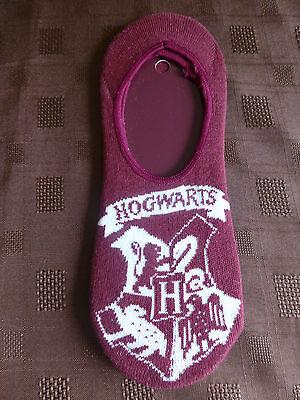 Señoras Par de Calcetines de Harry Potter Hogwarts Rojo Invisible Zapato Liners UK Size 4-8