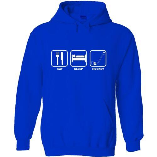 Eat sleep hockey men/'s hoody hoodie funny birthday gift sport