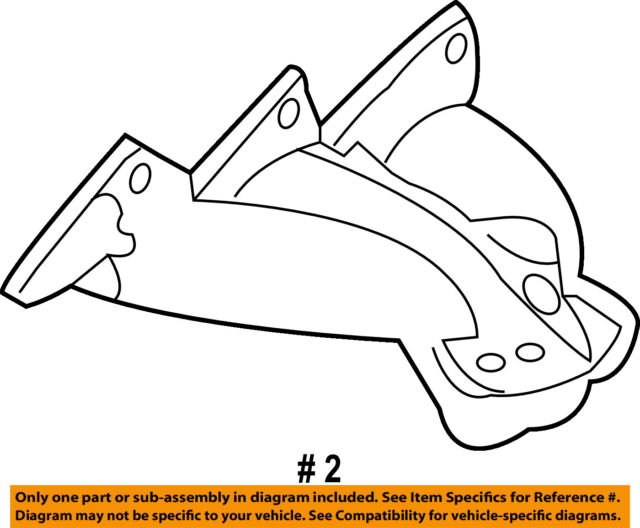 Gm Exhaust Manifold Part 12571100 With O2 Sensor
